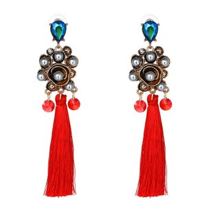 Alloy Bohemia  earring  (red) NHJJ4274-red's discount tags