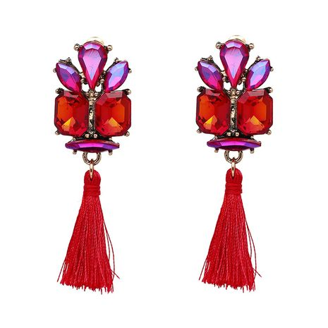 Alloy Vintage Geometric earring  (red) NHJJ4301-red's discount tags