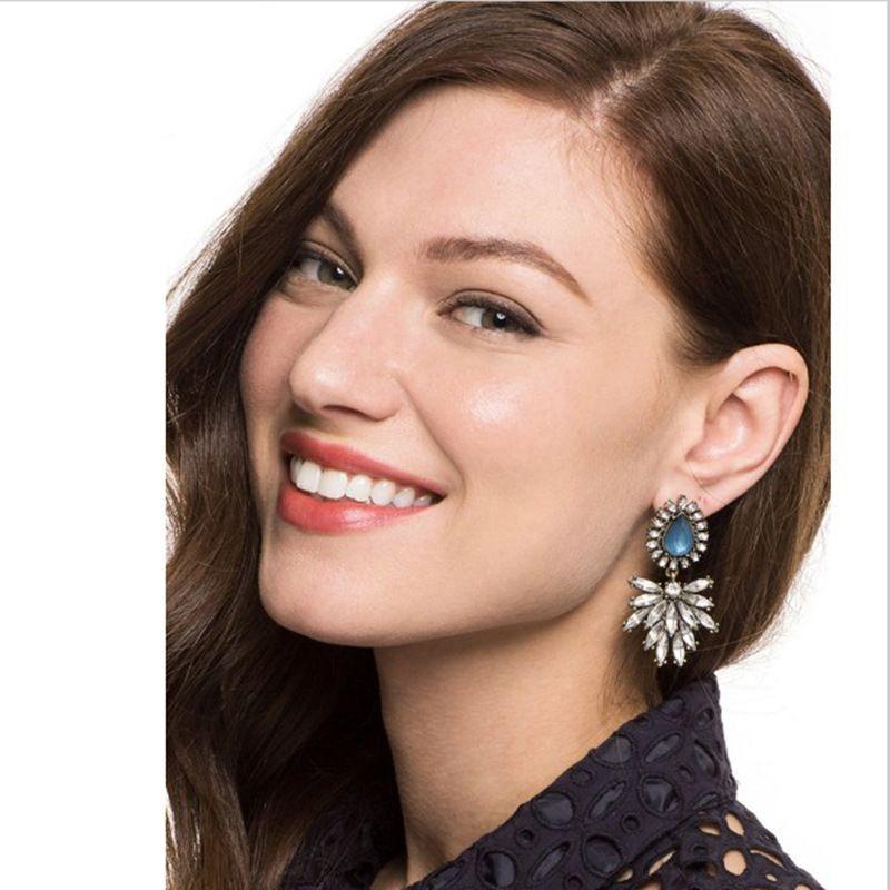 Alloy Fashion Geometric earring  (blue) NHJJ4316-blue