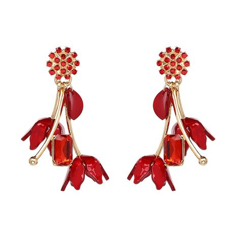 Alloy Fashion Flowers earring  (red) NHJJ4356-red's discount tags