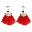 Alloy Bohemia Tassel Earrings  red NHJJ4052red