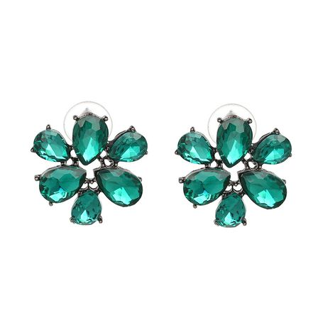 Plastic Korea Flowers earring  (green) NHJJ4402-green's discount tags