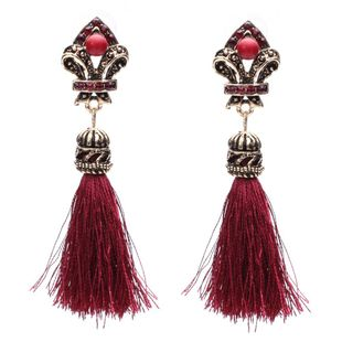 Alloy Bohemia Tassel earring  (red) NHJJ4383-red's discount tags