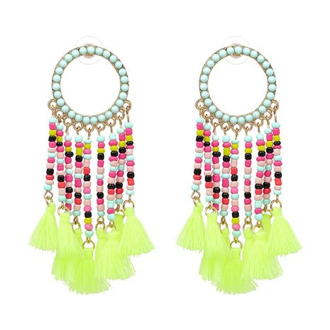 Alloy Simple Geometric earring  (green) NHJJ4578-green's discount tags