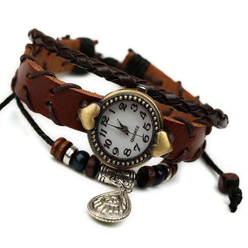 Leather Fashion  bracelet  (brown) NHPK1401-brown