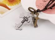 Alloy Fashion Cross necklace  Drip black cross NHPK1464Drip black cross