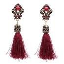 Alloy Bohemia Tassel earring  red NHJJ4383red