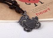 Leather Korea Geometric necklace  eagle NHPK1524eagle