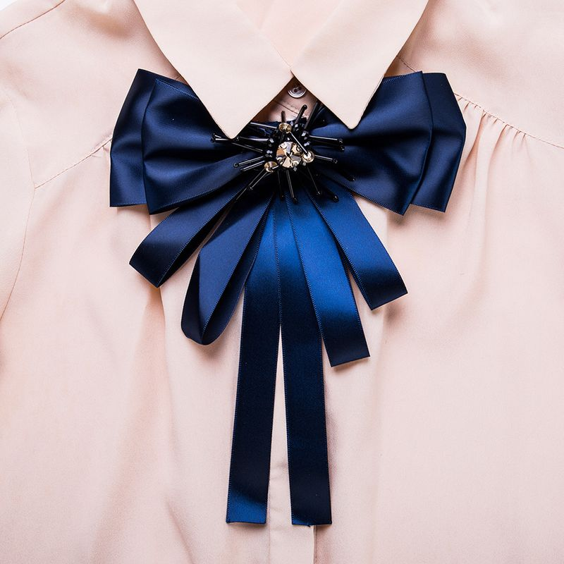 Alloy Fashion Bows brooch  (blue) NHJE1049-blue