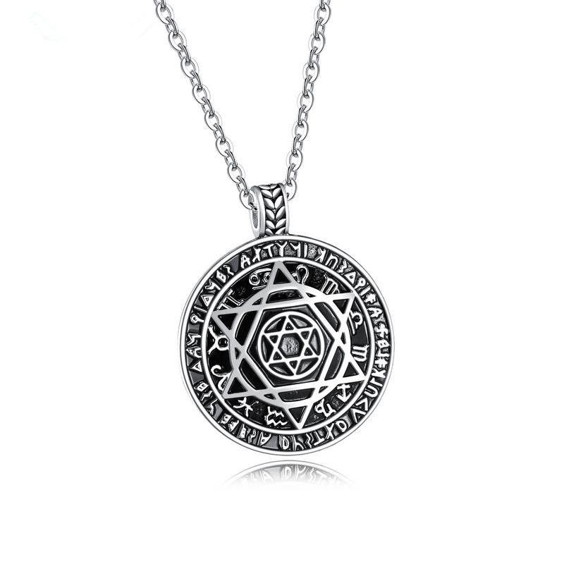 Titanium&Stainless Steel Fashion Geometric necklace  (Steel models) NHOP1882-Steel models