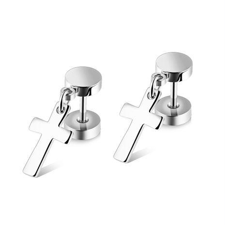Titanium&Stainless Steel Vintage Geometric earring  (Steel models) NHOP1948-Steel models's discount tags
