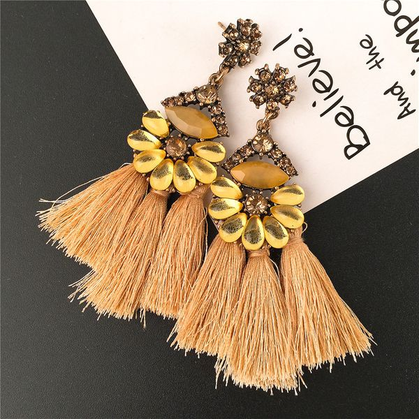 Alloy Fashion Geometric earring  (yellow) NHVA4626-yellow