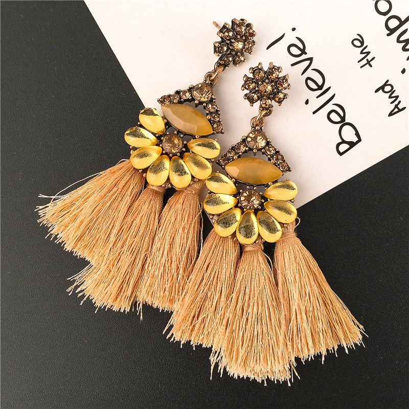 Alloy Fashion Geometric earring  yellow NHVA4626yellow