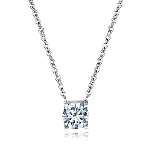 Titanium&Stainless Steel Korea Geometric necklace  (Steel Pendant + Chain) NHOP2041-Steel Pendant + Chain