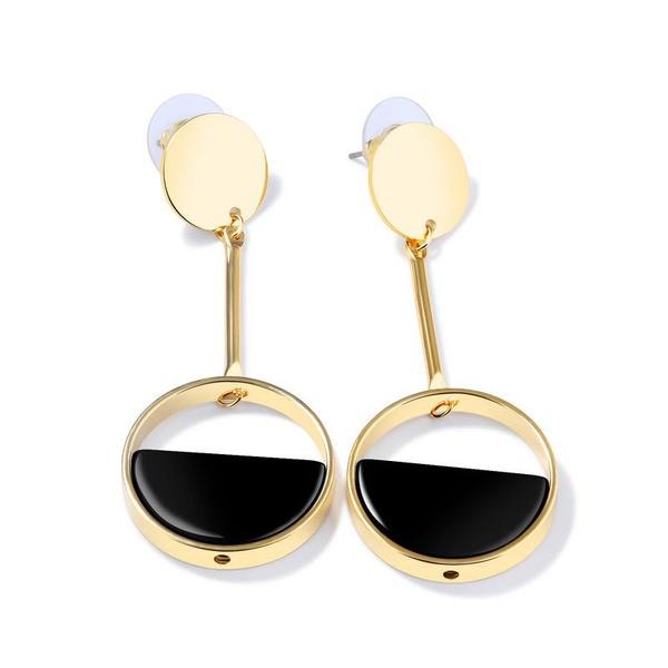 Copper Korea Geometric earring  (Stud Earrings) NHOP2082-Stud Earrings