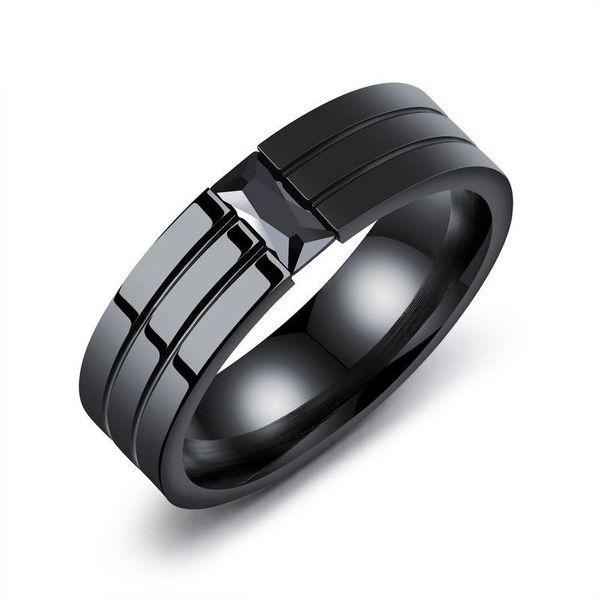 Titanium&Stainless Steel Korea Geometric Ring  (8) NHOP2119-8