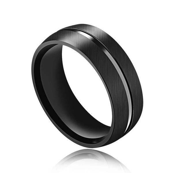Titanium&Stainless Steel Korea Geometric Ring  (7) NHOP2279-7