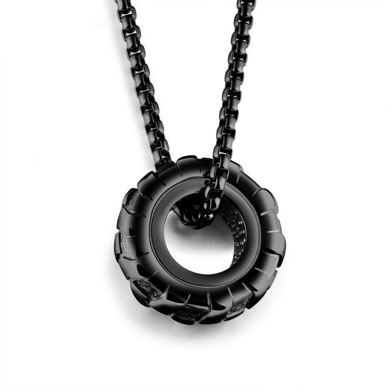 Titanium&Stainless Steel Fashion Geometric necklace  (Alloy section) NHOP2412-Alloy section