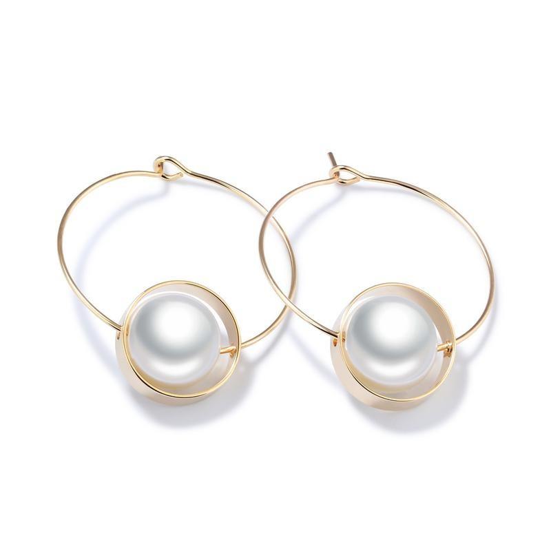 Copper Korea Geometric earring  (Stud Earrings) NHOP2431-Stud Earrings