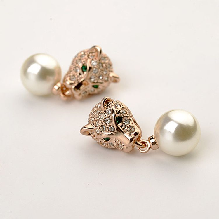 Alloy Fashion Geometric earring  (Rose alloy) NHLJ3690-Rose alloy
