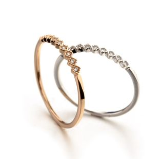 Alloy Fashion Geometric Ring  (Rose Alloy - 4.5) NHLJ3691-Rose Alloy - 4.5's discount tags