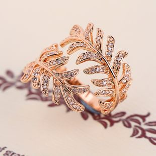 Copper Fashion Geometric Ring  (Rose alloy) NHLJ3695-Rose alloy's discount tags