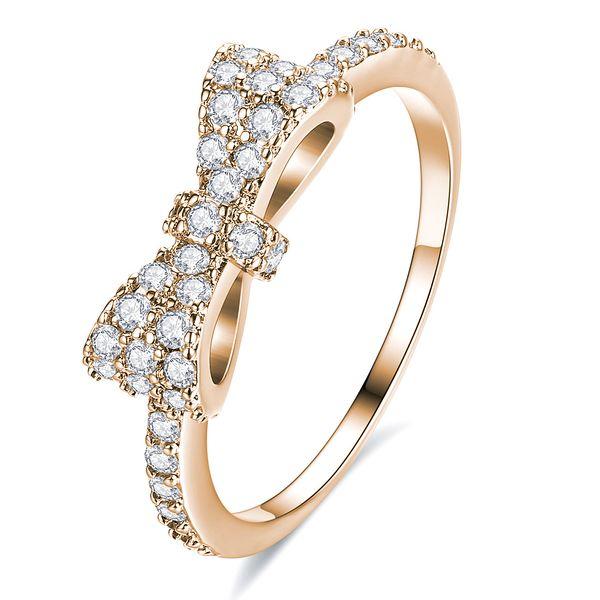 Copper Fashion Geometric Ring  (Rose Alloy-5) NHLJ3701-Rose Alloy-5