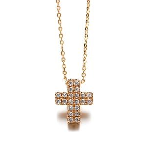 Copper Korea Geometric necklace  (Rose alloy) NHLJ3710-Rose alloy's discount tags