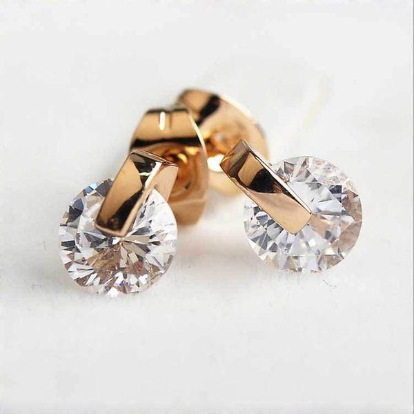 Alloy Korea Geometric earring  (Rose alloy) NHLJ3728-Rose alloy