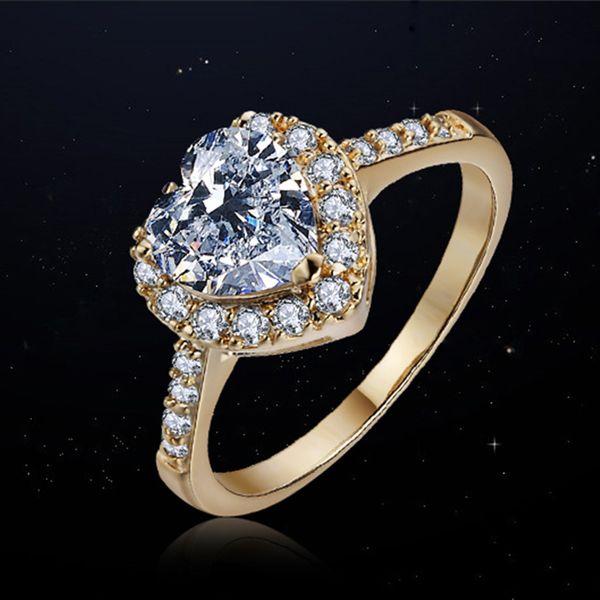 Alloy Fashion Sweetheart Ring  (Rose Alloy-5) NHLJ3742-Rose Alloy-5