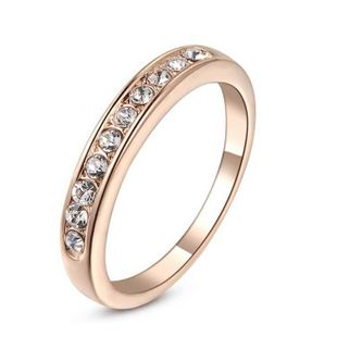 Alloy Simple Geometric Ring  (Rose Alloy White Rhinestone-5) NHLJ3746-Rose Alloy White Rhinestone-5's discount tags