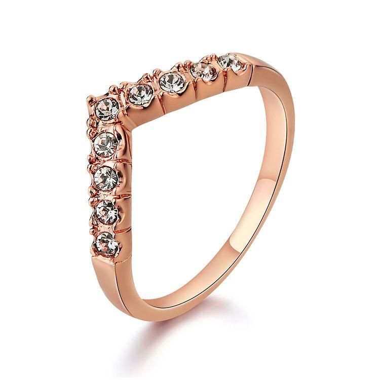 Alloy Korea Geometric Ring  (Rose Alloy-5) NHLJ3750-Rose Alloy-5