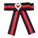 Broche noeuds en alliage de mode rouge + noir NHJQ9982rouge + noir