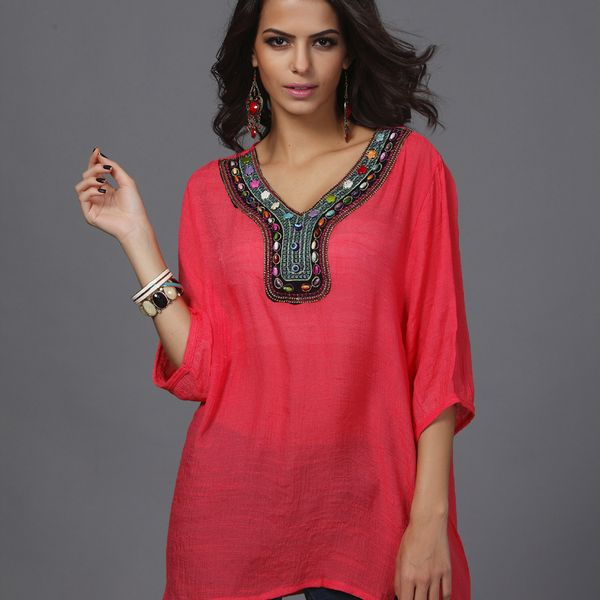 Alloy Fashion  Large Women  (Watermelon Red - L) NHDF0216-Watermelon Red - L