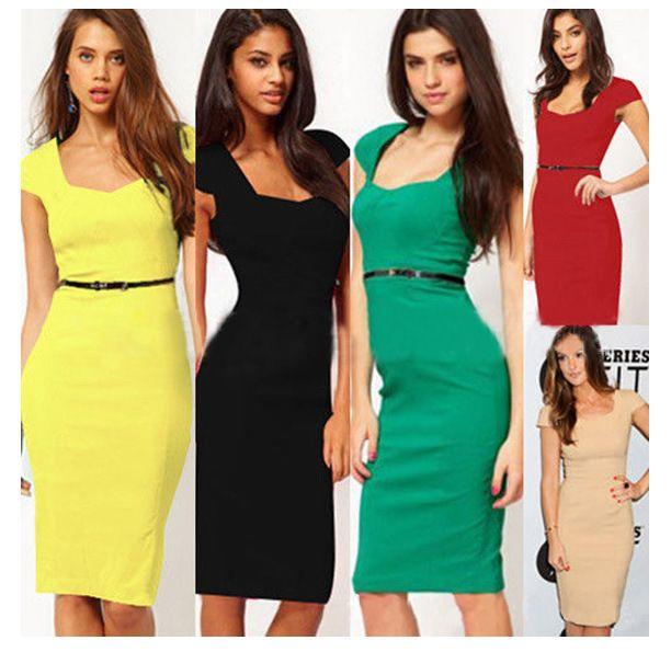 Polyester Fashion  dress  (Khaki-S) NHDF0338-Khaki-S