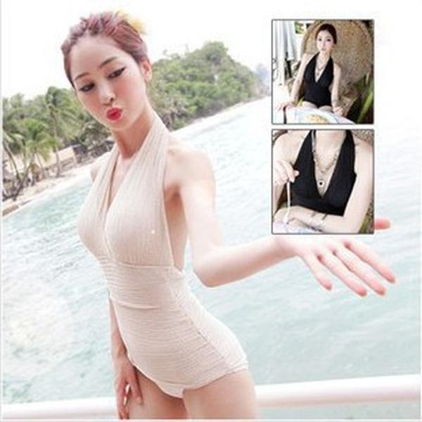 Polyester Fashion  Bikini  (Black-M) NHXJ0113-Black-M