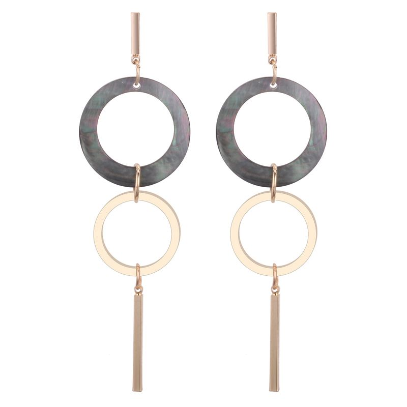 Korean personality simple ring 1 long earrings NHNPS3921
