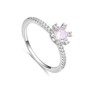 AAA microinlaid zircon ring  romantic beauty Platinum NHKSE28231