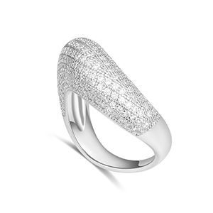 AAA microinlaid zircon ring  happy love nest Platinum NHKSE28227