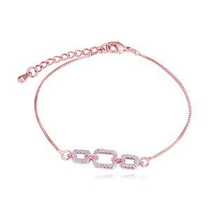 AAA microinlaid zircon bracelet BRose of love rose alloy NHKSE28216