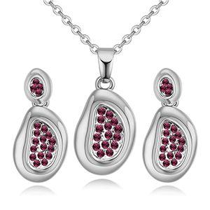 Import Imitated crystal Set - Love Swirl (Platinum + Purple) NHKSE28168