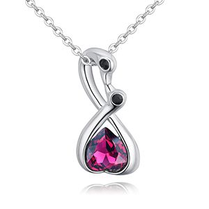 Austria Imitated crystal Necklace - Romantic Swan (Purple) NHKSE28084