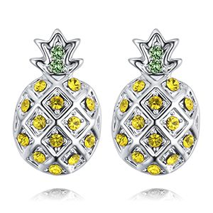 Imported Imitated crystal Stud Earrings - Pineapple (Alloy Imitated crystal) NHKSE28040's discount tags