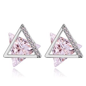 S925 alloy pin AAA micro inlay zircon earrings--six-pointed star (Platinum) NHKSE27914