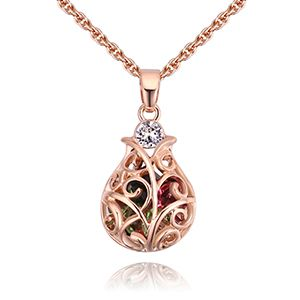 Alloy Imitated crystal Necklace  Lucky Bottle Color NHKSE27893