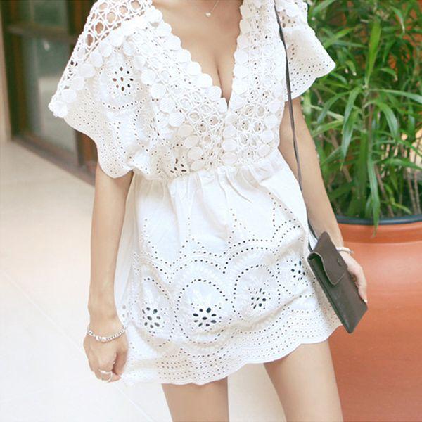 Polyester Korea  Bikini  (White - One Size) NHXW0084-White - One Size