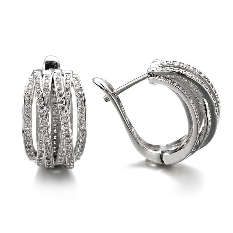 Copper Fashion Geometric earring  (platinum) NHLJ3760-platinum