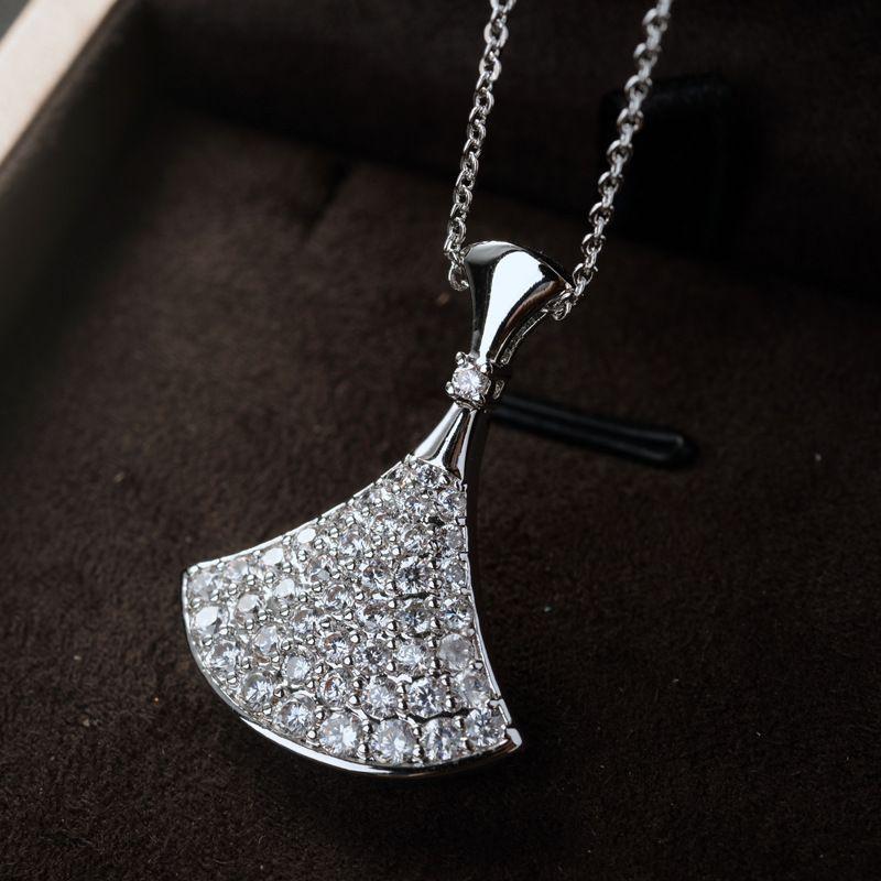 Copper Fashion Geometric necklace  (White alloy) NHLJ3779-White alloy