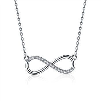 Copper Simple Geometric necklace  (White alloy) NHLJ3795-White alloy