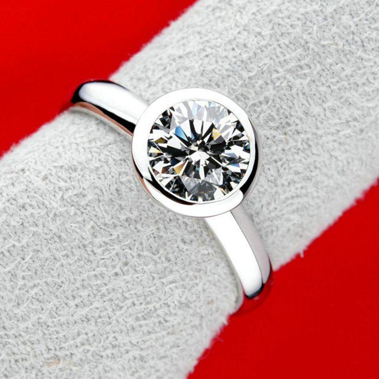 Copper Korea Geometric Ring  (Platinum-16) NHLJ3803-Platinum-16